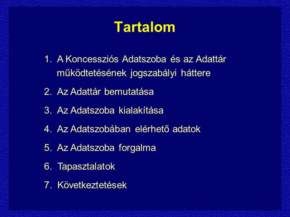 1.A jogszabályi háttér Koncessziós Pályázati Kiírások 7.