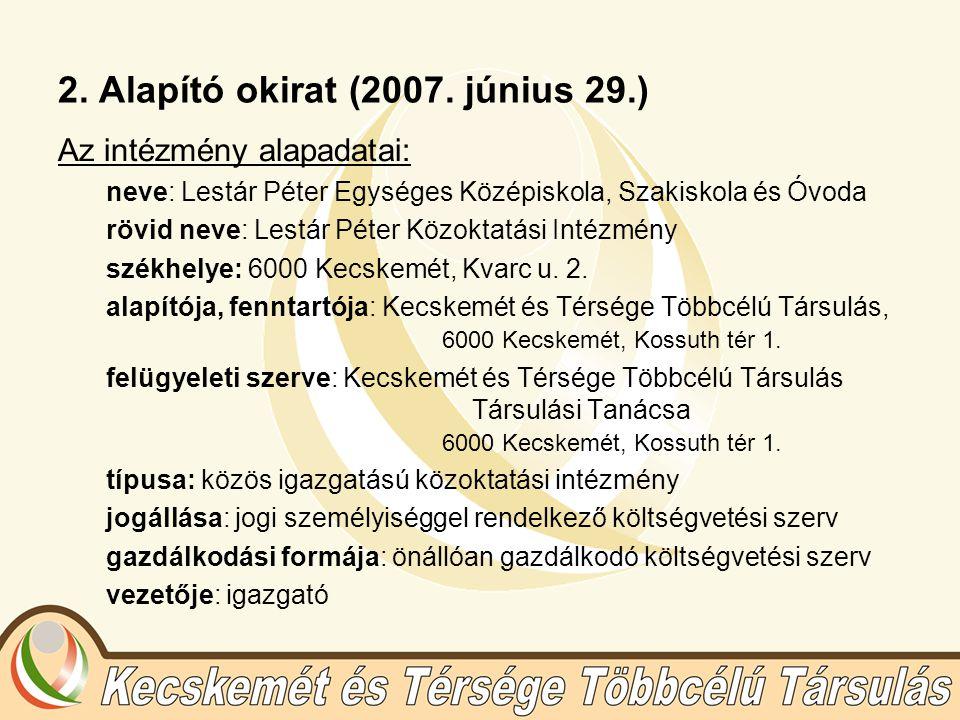 2. Alapító okirat (2007.