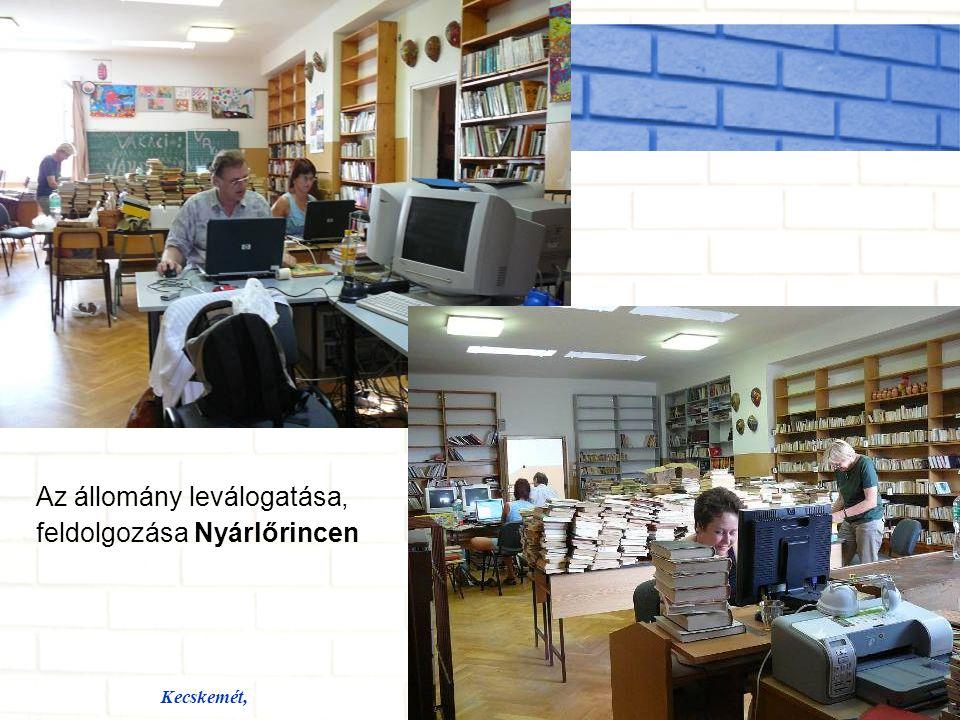 Kecskemét,Készítette: Ramháb Mária Rendezvények, közösségi szolgáltatások Berg Judit Kunbaracson A Nagy Olvashow Ágasegyházán