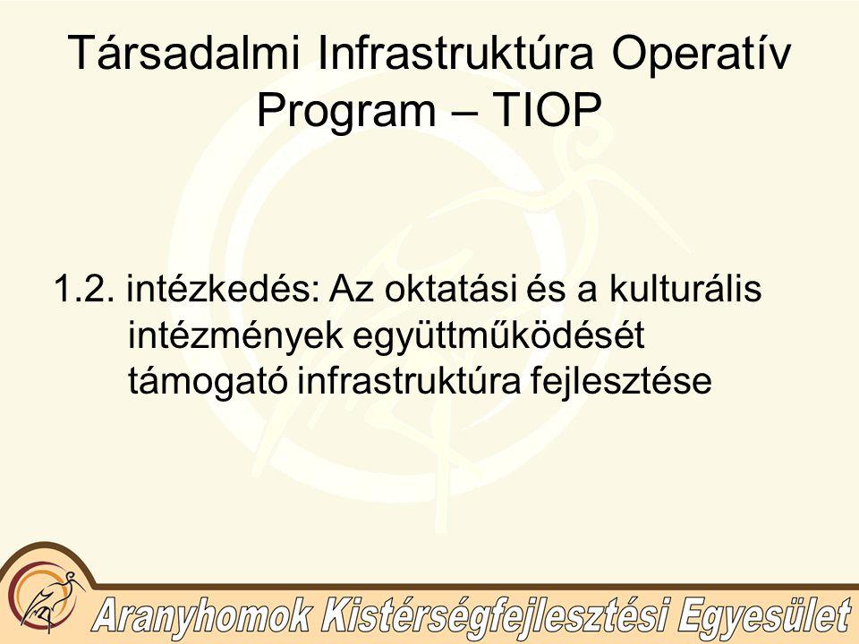 Társadalmi Infrastruktúra Operatív Program – TIOP 1.2.