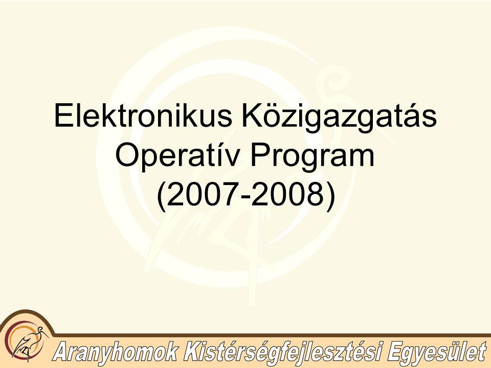 Elektronikus Közigazgatás Operatív Program (2007-2008)