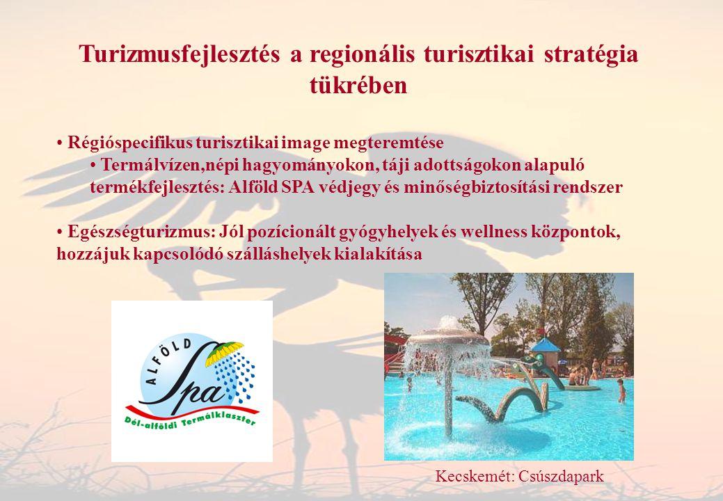 Turizmusfejlesztés a regionális turisztikai stratégia tükrében Régióspecifikus turisztikai image megteremtése Termálvízen,népi hagyományokon, táji ado