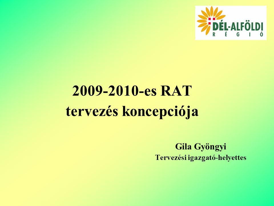 2009-2010-es RAT tervezés koncepciója Gila Gyöngyi Tervezési igazgató-helyettes