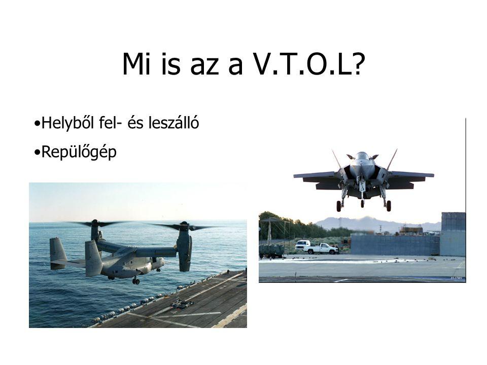 Mi is az a V.T.O.L? Helyből fel- és leszálló Repülőgép