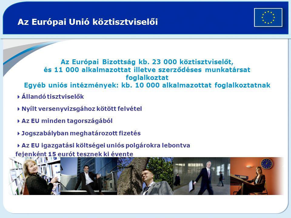 Az Európai Unió köztisztviselői Az Európai Bizottság kb.