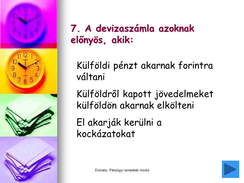 Dolceta - Pénzügyi ismeretek modul21 7.