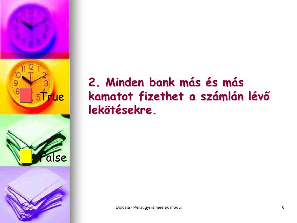 Dolceta - Pénzügyi ismeretek modul6 2.