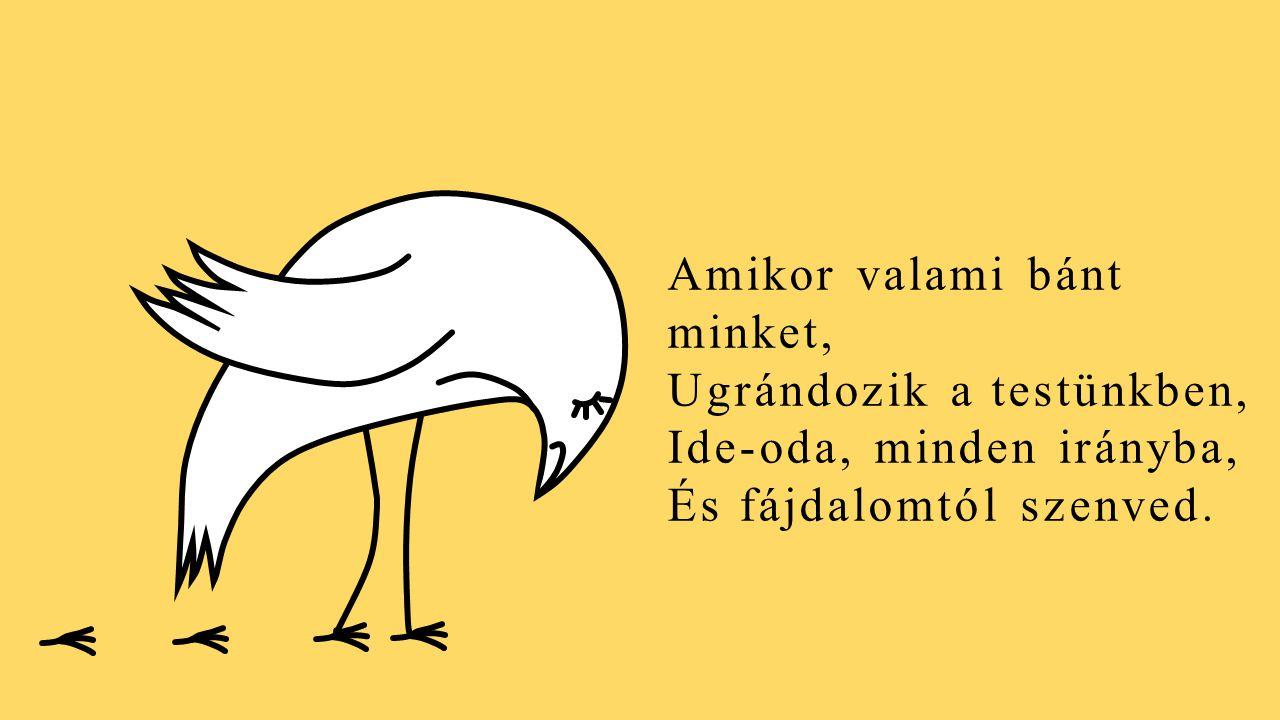 A lélek közepén, Fél lábon áll egy kismadár. Egy madár, kinek neve lélekmadár. Érez mindent, amit mi Érzünk.
