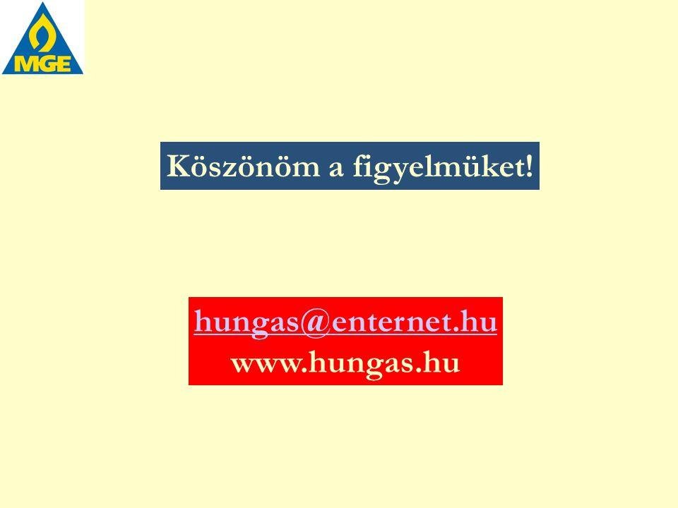 Köszönöm a figyelmüket! hungas@enternet.hu www.hungas.hu
