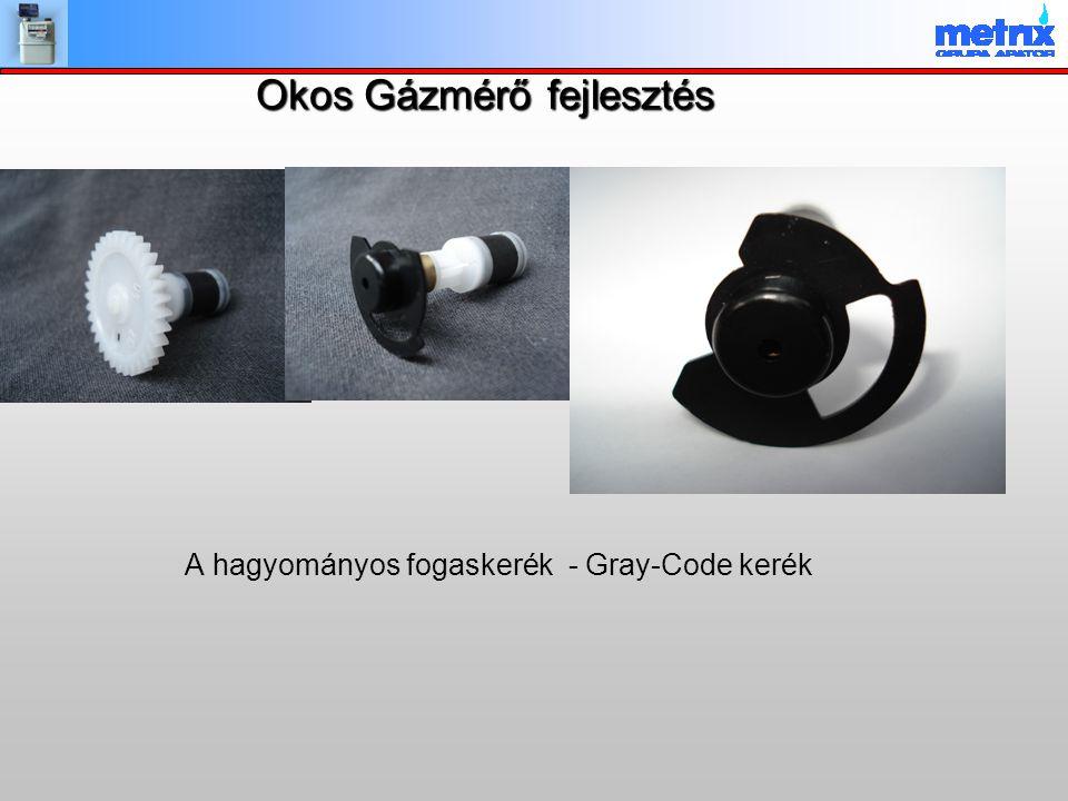 Okos Gázmérő fejlesztés A hagyományos fogaskerék - Gray-Code kerék