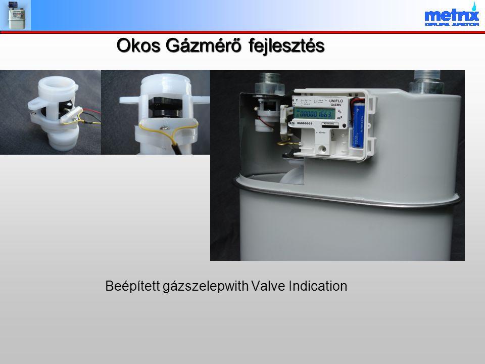 Okos Gázmérő fejlesztés Beépített gázszelepwith Valve Indication