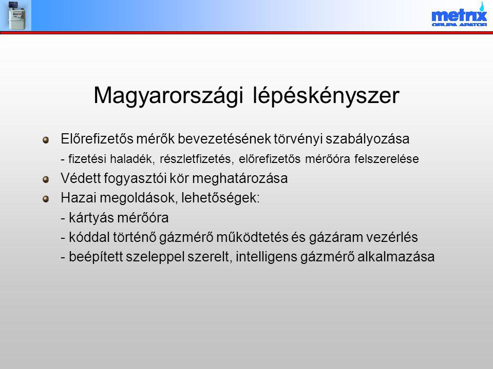 A Magyar Energia Hivatal pályázata Tanulmány készítésére a kormányrendelet előkészítéséhez a Világbank támogatásával A pályázat-nyertes feladatai: – A szakirodalom, az elvi és gyakorlati megoldások és tapasztalatok feldolgozása; – A magyar nemzeti piaci- és szabályozási körülmények vizsgálata; – A jelenleg működő hazai mérési rendszerek felmérése, a hálózatüzemeltetők szándékainak megismerése; – Javaslat (változatok) kidolgozása az okos mérés funkcióira és követelményeire, beleértve a szabványosítás, az integrált mérés és a későbbi fejlesztés követelményét is; – Az okos mérés bevezetése feltételeinek vizsgálata, a várható következmények bemutatása; költség/haszon elemzés; javaslat a bevezetés ütemezésére; – Workshop szervezése