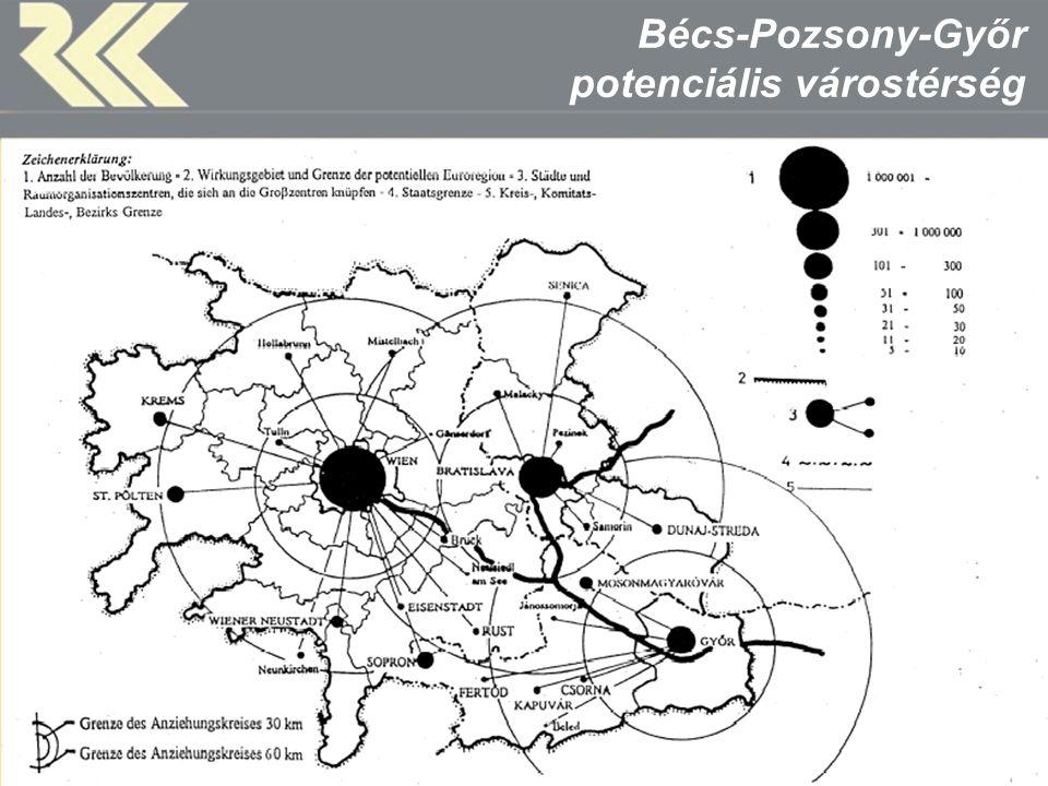 MTA Regionális Kutatások Központja A CENTROPE térség Forrás: Centrope, 2009.