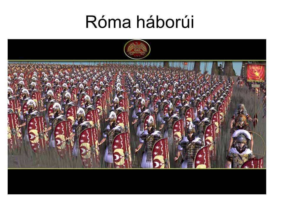 A római hadsereg A hadsereg felépítése: Általános hadkötelezettség (17-46 között, majd 60-ig /seniores/ városvédelem) – kivétel a proletár, akinek nincs vagyona (nem tud fegyvert vásárolni) Nincs állanó hadsereg, csak hadjáratokra vonulnak be (átlagban 10-15 egy ember élete alatt) Alapja a vagyoni felosztás (Servius Tullius), az 5 classis 193 centuriát állított ki,+ itáliai szövetségesek csapatai + idegen zsoldosok (pl.