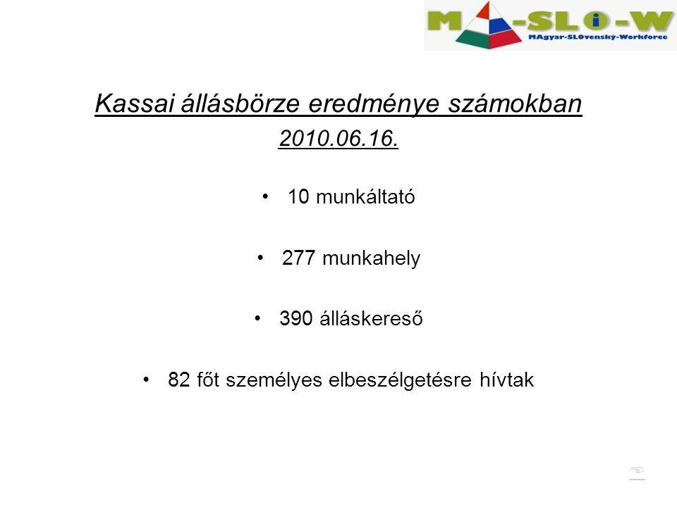Kassai állásbörze eredménye számokban 2010.06.16.