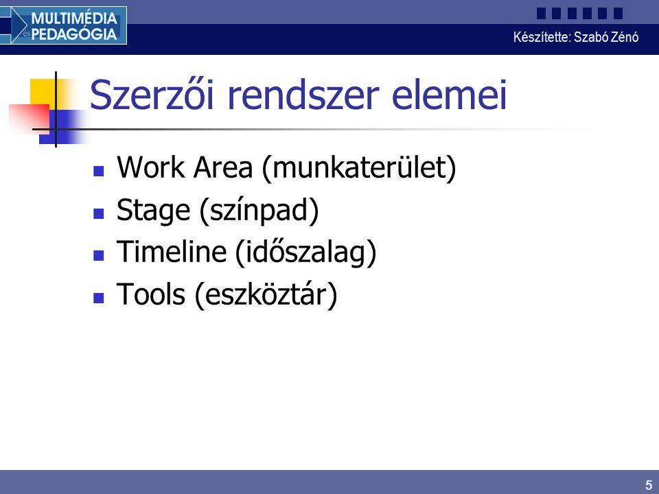 Készítette: Szabó Zénó 6 Képkockák Nincs képkocka Üres kulcsképkocka Objektumot tartalmazó kulcsképkocka Számított képkockák Mozgásátmenetet tartalmazó animáció Alakváltoztató animáció Probléma