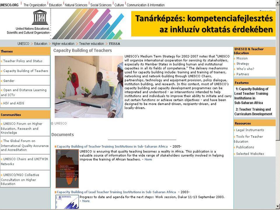 Tanárképzés: kompetenciafejlesztés az inkluzív oktatás érdekében az inkluzív oktatás érdekében
