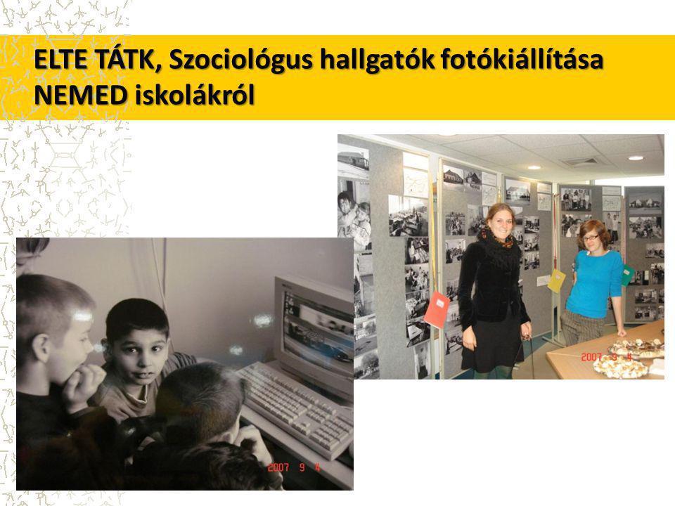 ELTE TÁTK, Szociológus hallgatók fotókiállítása NEMED iskolákról