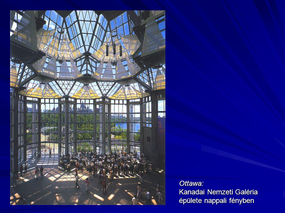Ottawa: Kanadai Nemzeti Galéria épülete nappali fényben