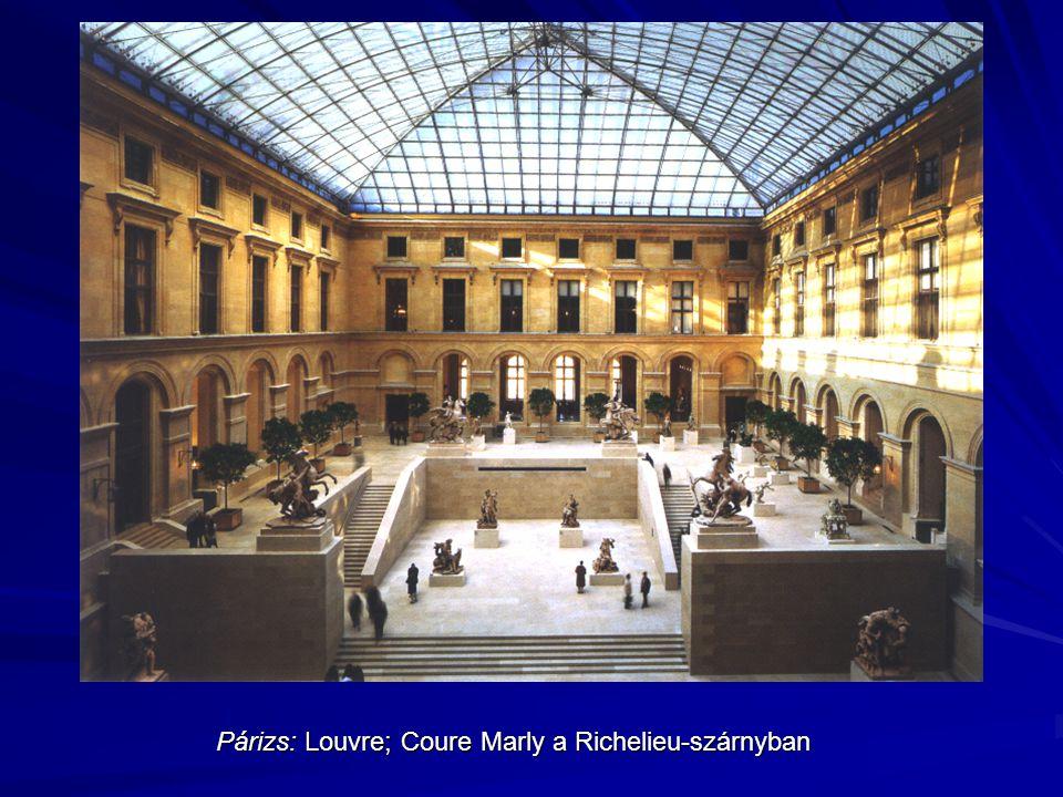 Párizs: Louvre; Coure Marly a Richelieu-szárnyban