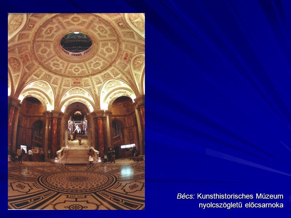 Bécs: Kunsthistorisches Múzeum nyolcszögletű előcsarnoka