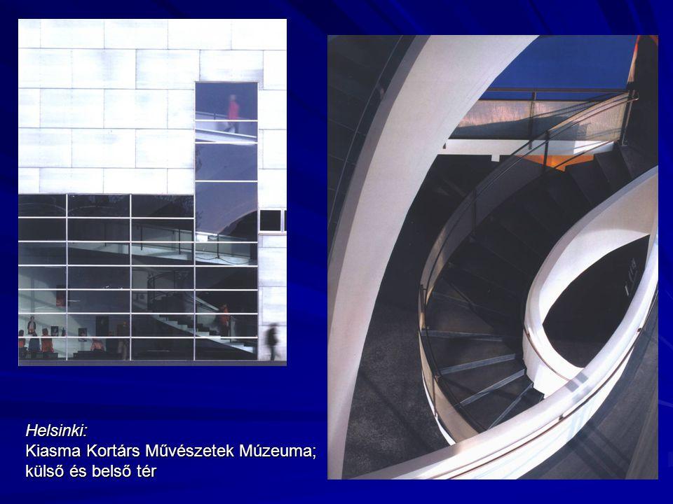 Helsinki: Kiasma Kortárs Művészetek Múzeuma; külső és belső tér