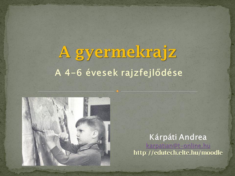 A 4-6 évesek rajzfejlődése Kárpáti Andrea karpatian@t-online.hu karpatian@t-online.huhttp://edutech.elte.hu/moodle