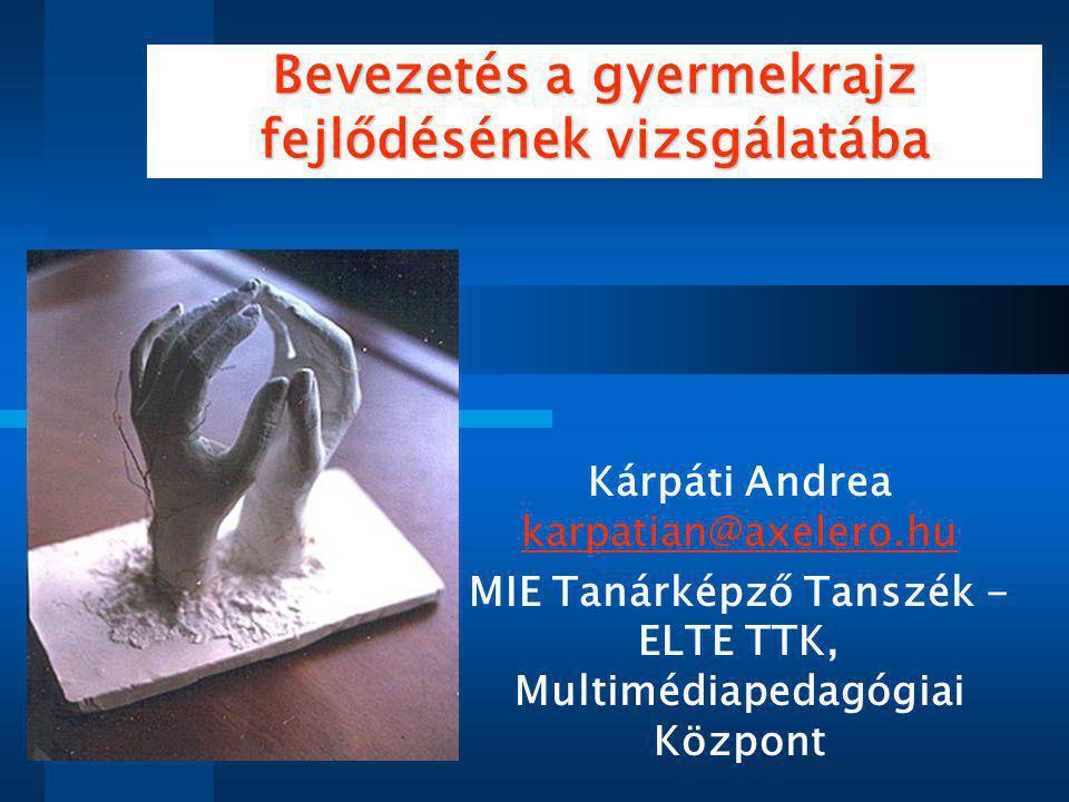 Bevezetés a gyermekrajz fejlődésének vizsgálatába Kárpáti Andrea karpatian@axelero.hu MIE Tanárképző Tanszék - ELTE TTK, Multimédiapedagógiai Központ