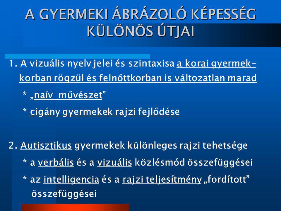 A GYERMEKI ÁBRÁZOLÓ KÉPESSÉG KÜLÖNÖS ÚTJAI 1.