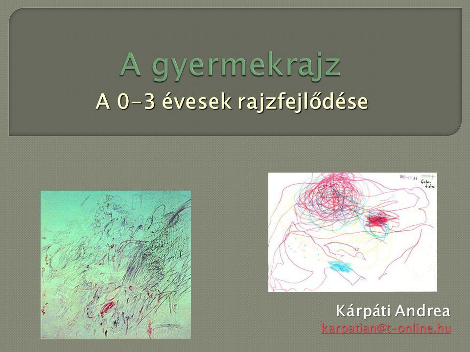 A 0-3 évesek rajzfejlődése Kárpáti Andrea karpatian@t-online.hu karpatian@t-online.hu