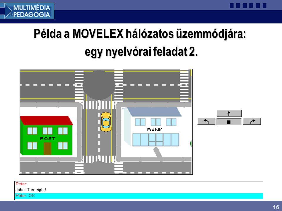 16 Példa a MOVELEX hálózatos üzemmódjára: egy nyelvórai feladat 2.