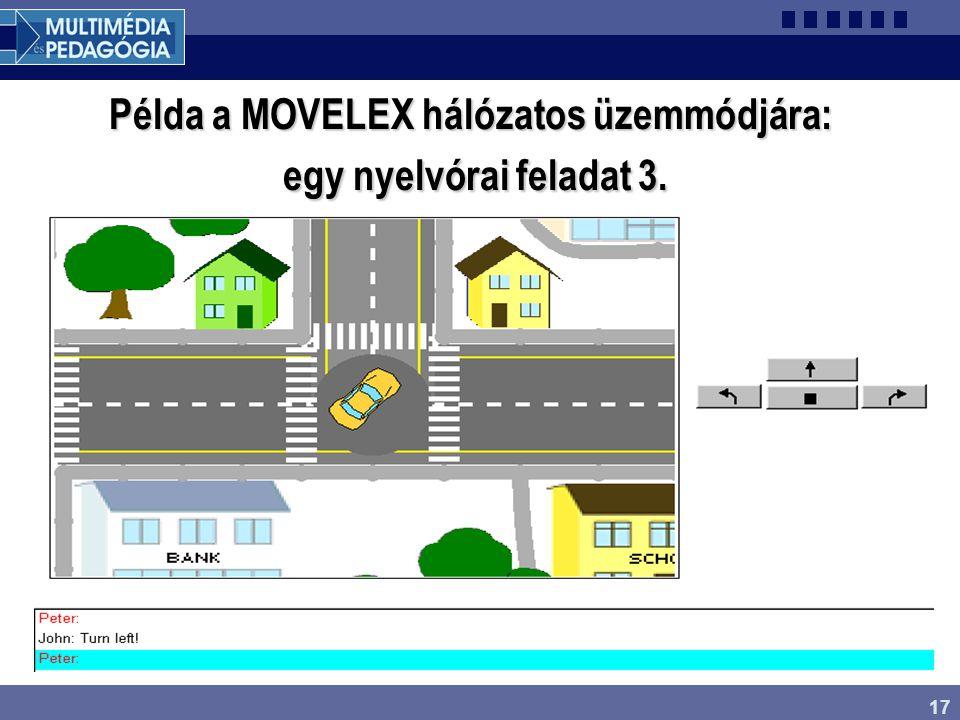 17 Példa a MOVELEX hálózatos üzemmódjára: egy nyelvórai feladat 3.