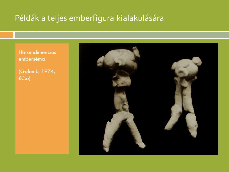 Példák a teljes emberfigura kialakulására Háromdimenziós emberséma (Golomb, 1974, 83.o)