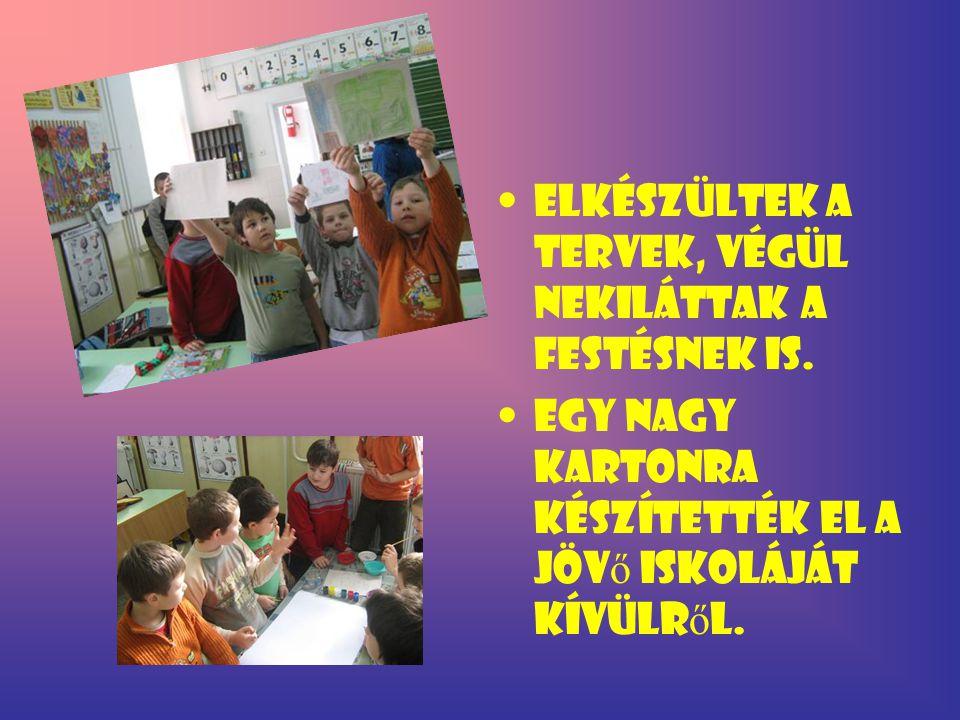 A lányok aprólékosabb munkát végeztek, belülr ő l tervezték meg a jöv ő iskoláját.