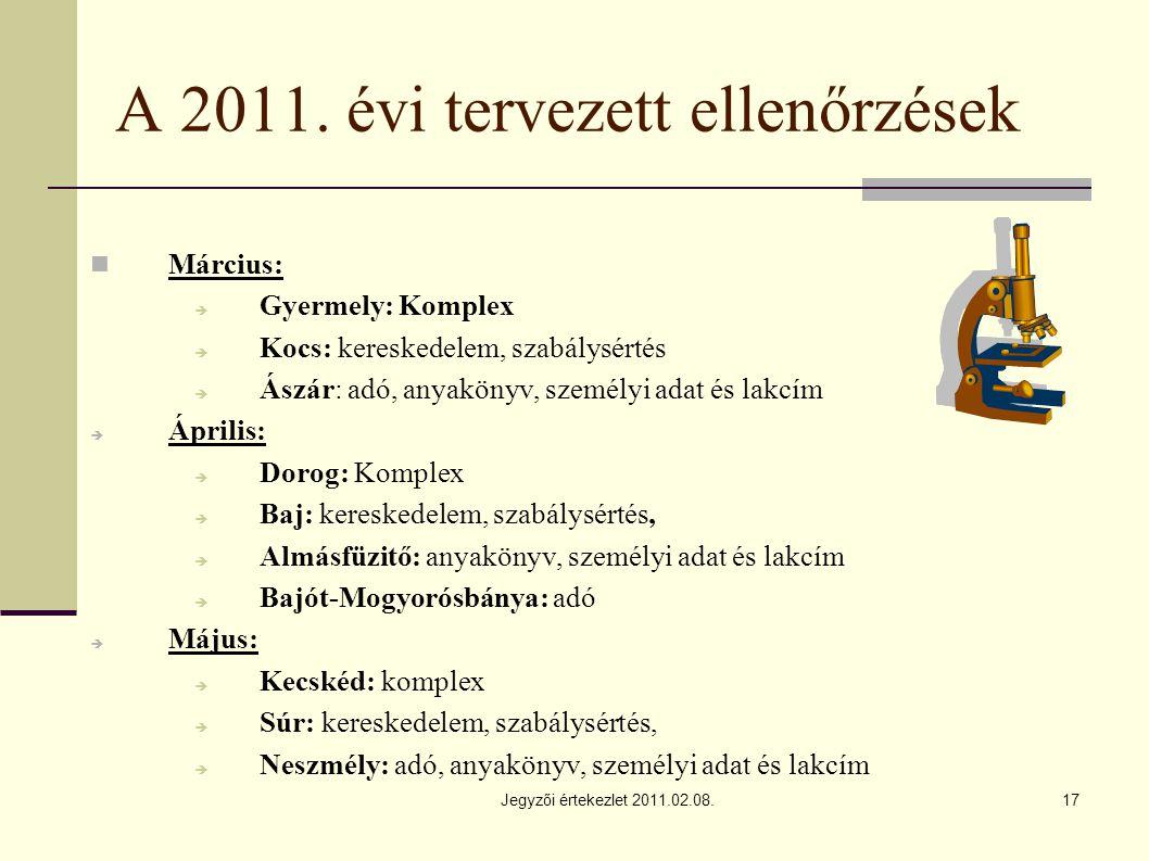 Jegyzői értekezlet 2011.02.08.17 A 2011.