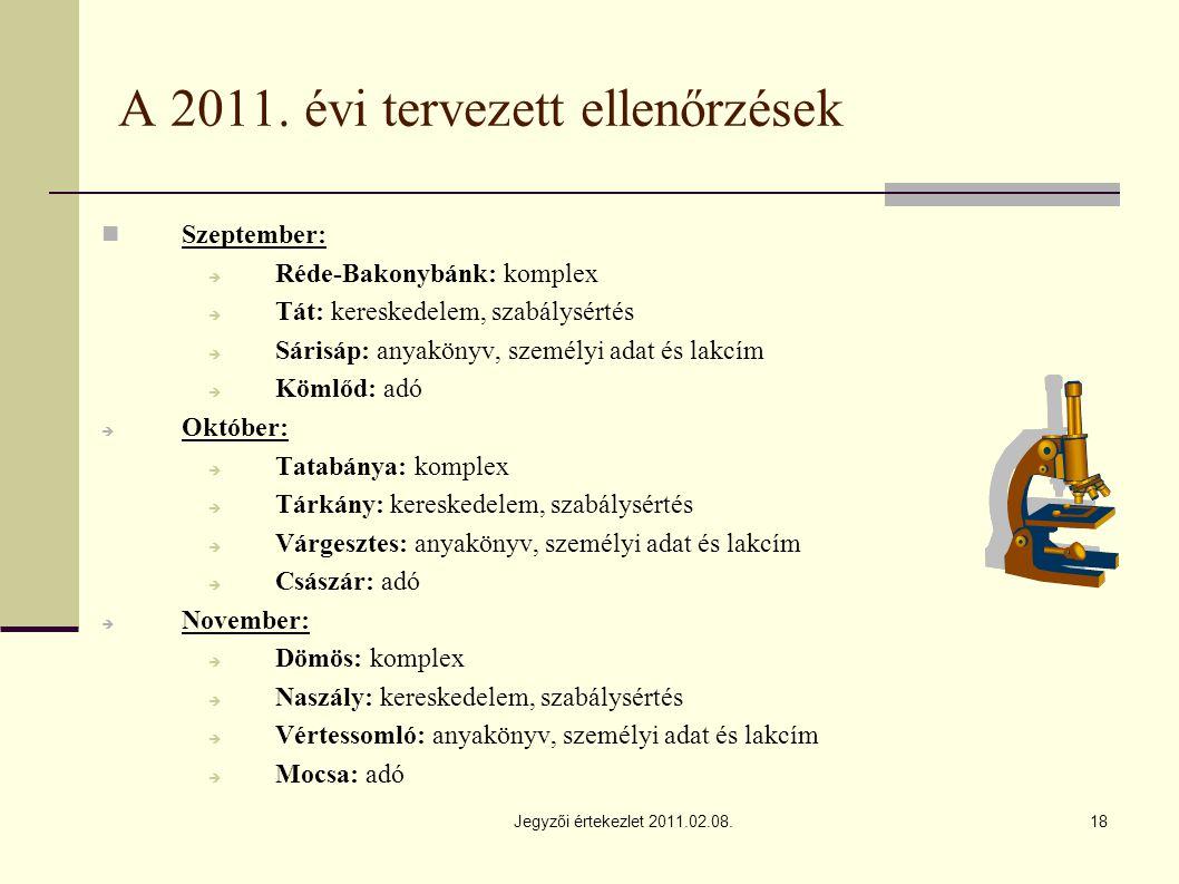 Jegyzői értekezlet 2011.02.08.18 A 2011.