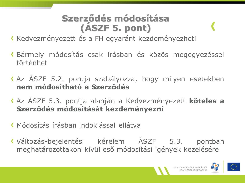 Támogatások ellenőrzése (ÁSZF 8.