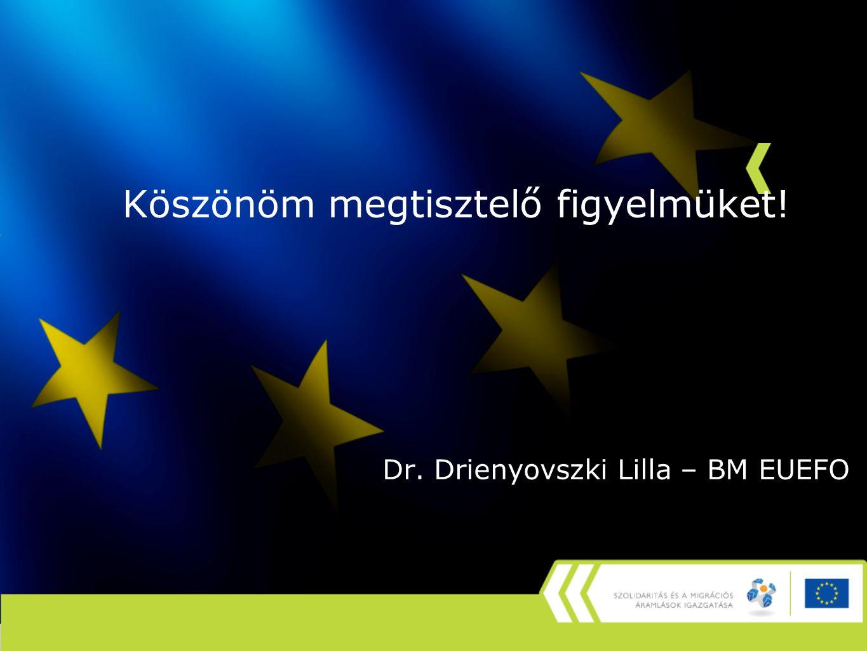 Köszönöm megtisztelő figyelmüket! Dr. Drienyovszki Lilla – BM EUEFO