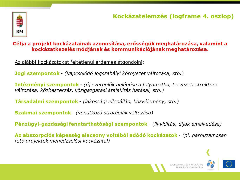 Kockázatelemzés (logframe 4.