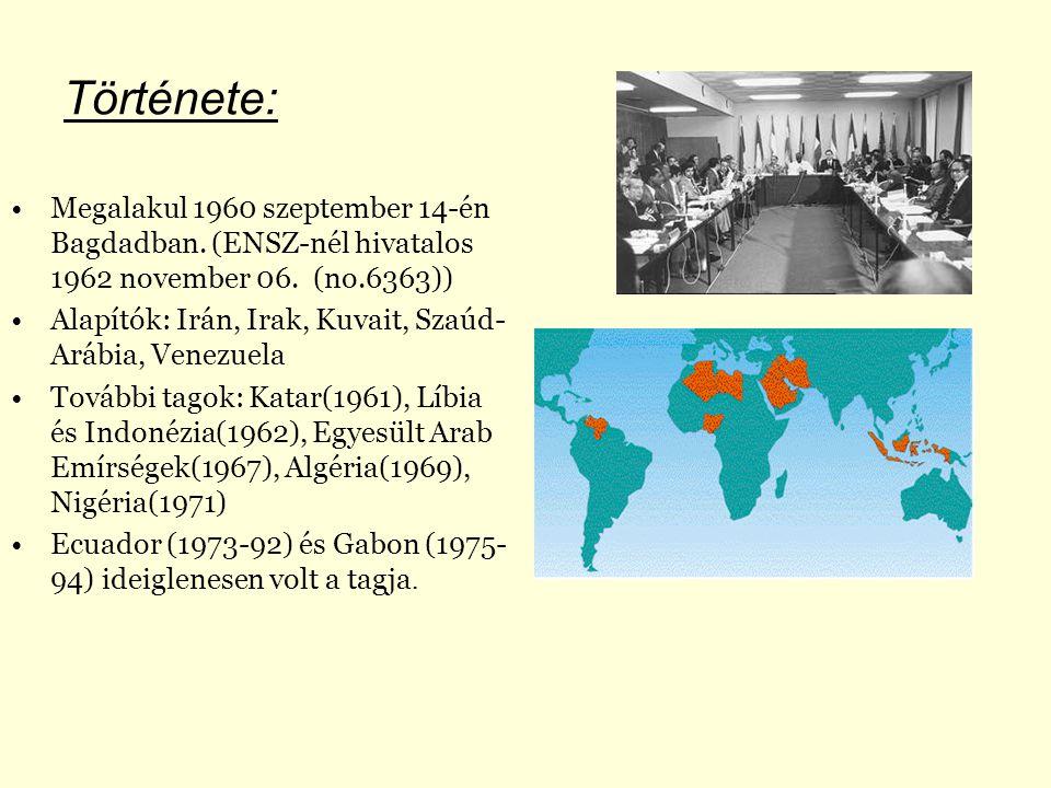 Története: Megalakul 1960 szeptember 14-én Bagdadban.