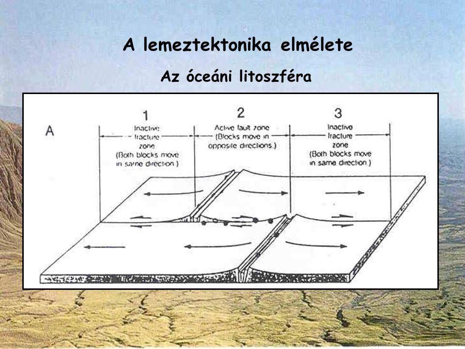 A lemeztektonika elmélete Az óceáni litoszféra
