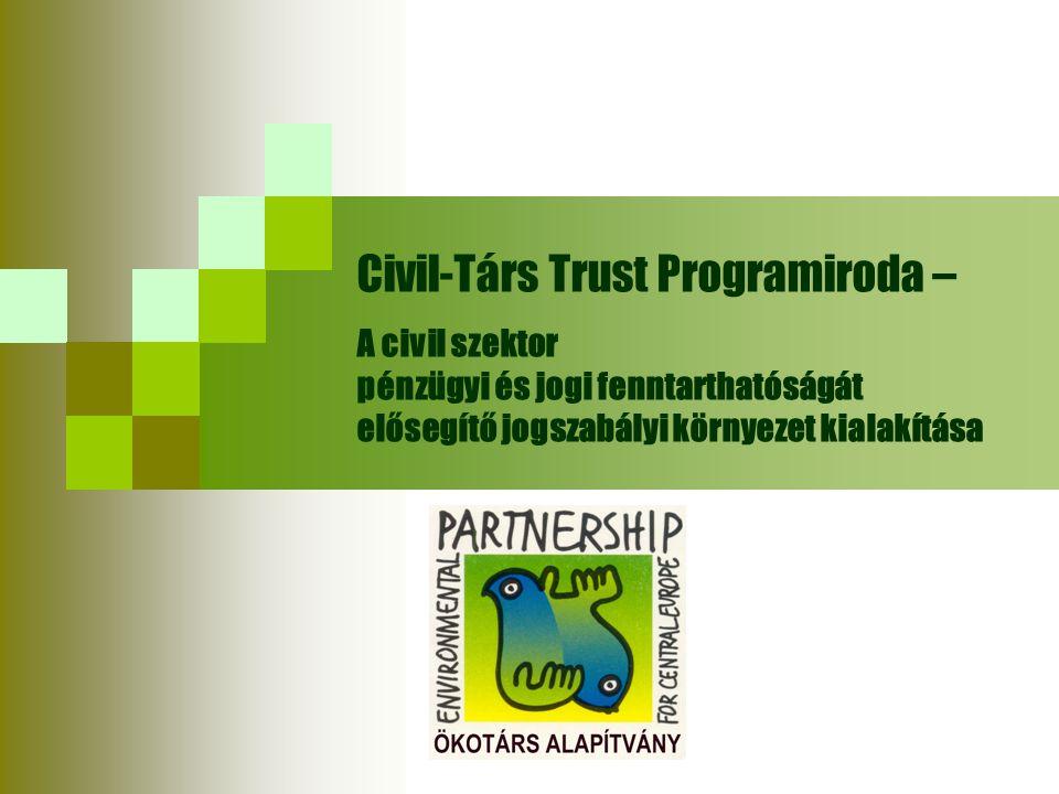 Civil-Társ Trust Programiroda – A civil szektor pénzügyi és jogi fenntarthatóságát elősegítő jogszabályi környezet kialakítása