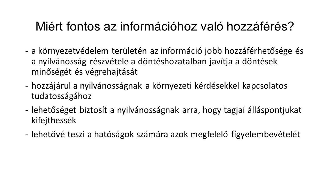 Miért fontos az információhoz való hozzáférés.
