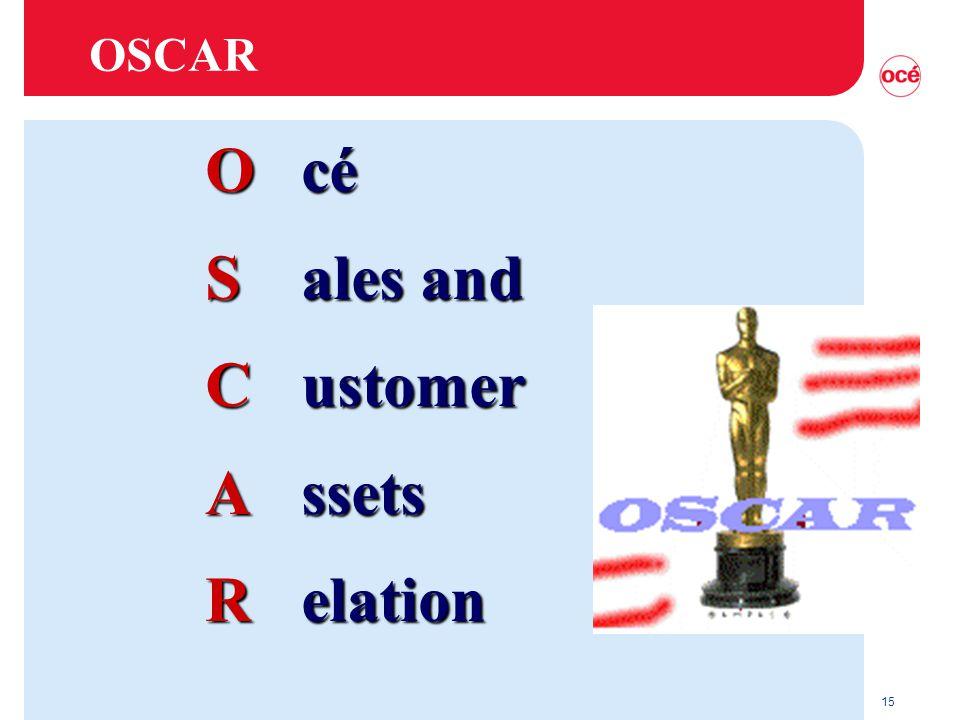 15 OSCAR Océ Sales and Customer Assets Relation