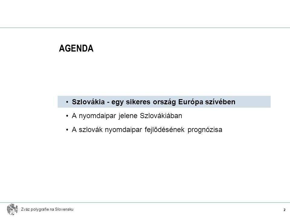 Zväz polygrafie na Slovensku Szlovákia - egy sikeres ország Európa szívében A nyomdaipar jelene Szlovákiában A szlovák nyomdaipar fejlődésének prognóz
