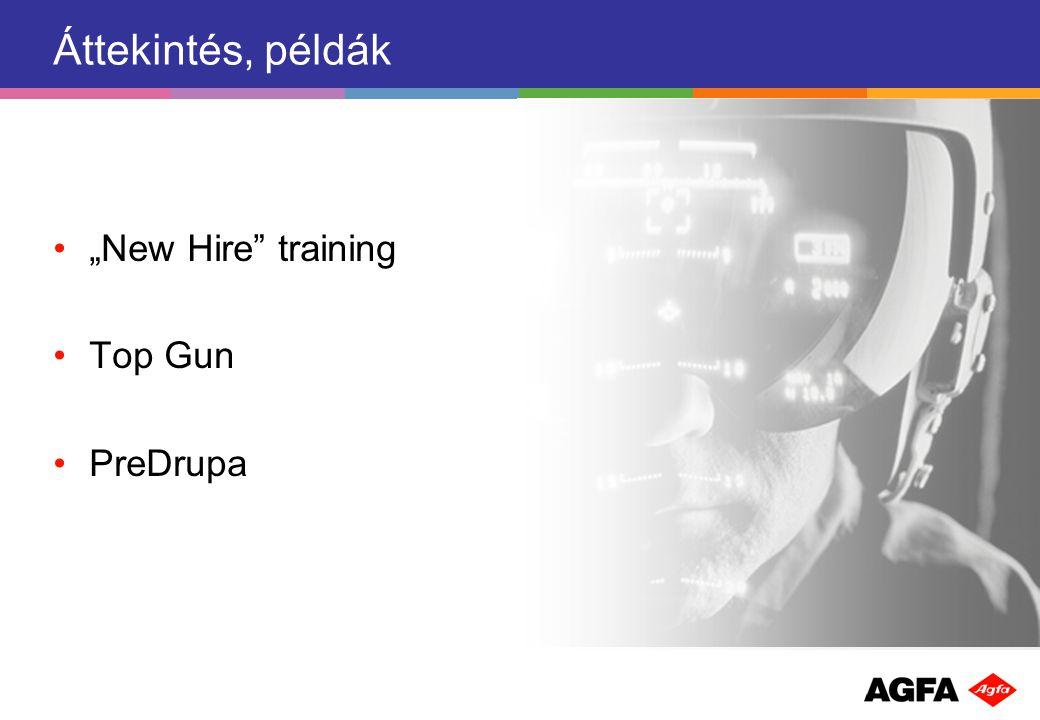 """Áttekintés, példák """"New Hire training Top Gun PreDrupa"""
