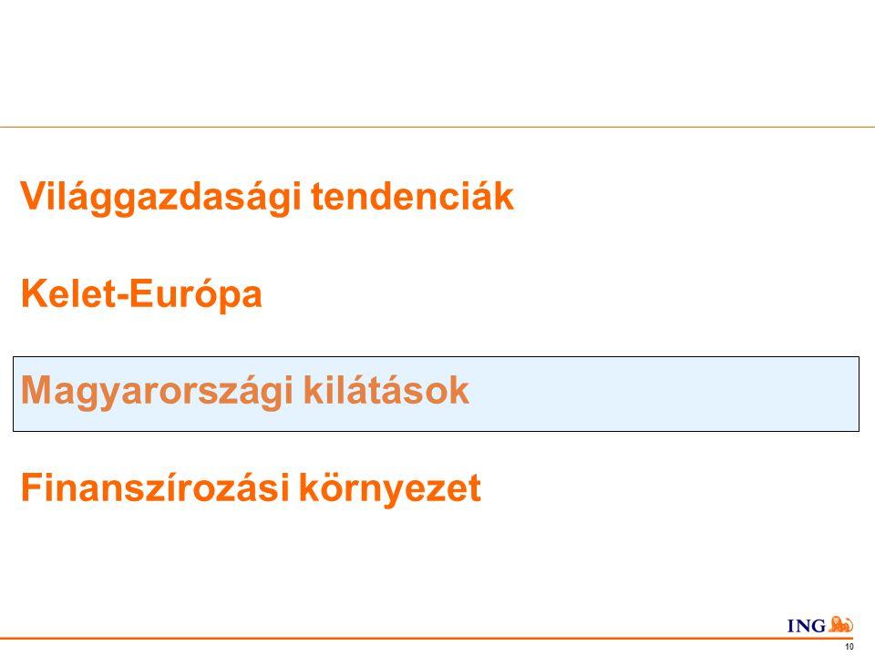 Do not put content in the Brand Signature area 10 Világgazdasági tendenciák Kelet-Európa Magyarországi kilátások Finanszírozási környezet