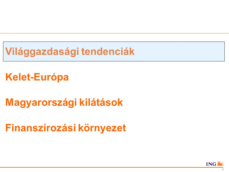 Do not put content in the Brand Signature area 2 Világgazdasági tendenciák Növekedés