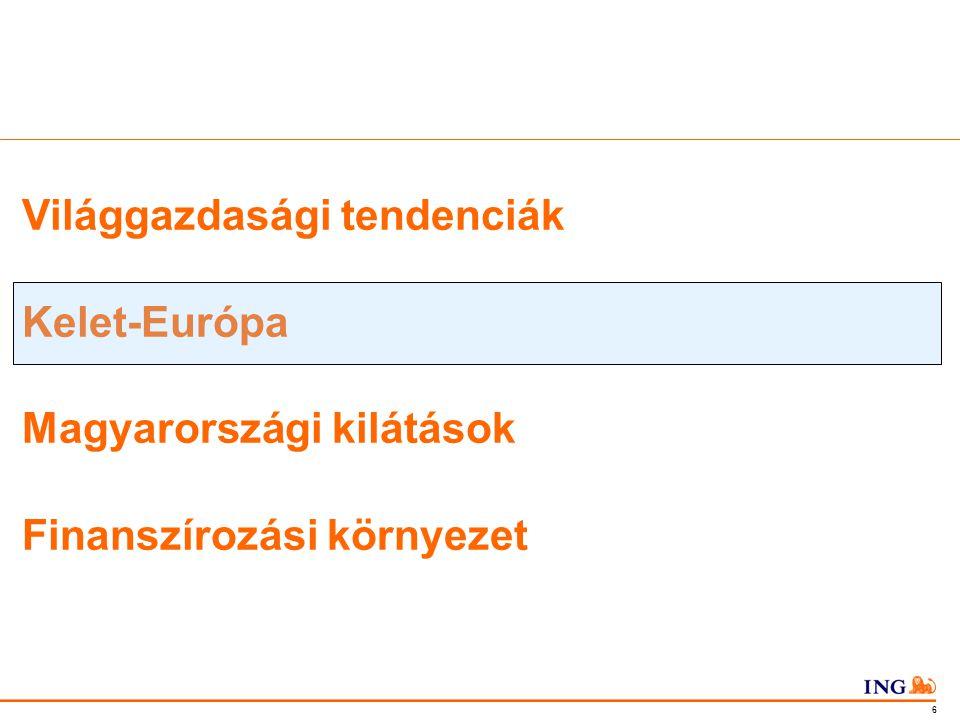 Do not put content in the Brand Signature area 7 Európa Kelet-Európa - szerény növekedés