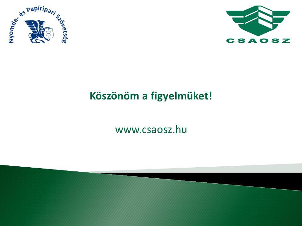 Köszönöm a figyelmüket! www.csaosz.hu